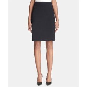 Calvin Klein Petite Pencil Skirt, Black, Size 14P